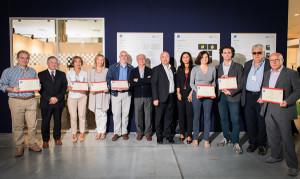 Marianna Fiocchi, seconda destra, durante la cerimonia di consegna del Premio Giornalistico