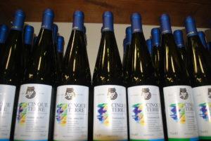 Cinqueterre bottiglie vino bianco