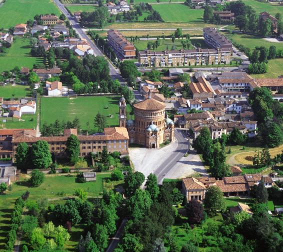 Veduta dall'alto della basilica di Santa Maria