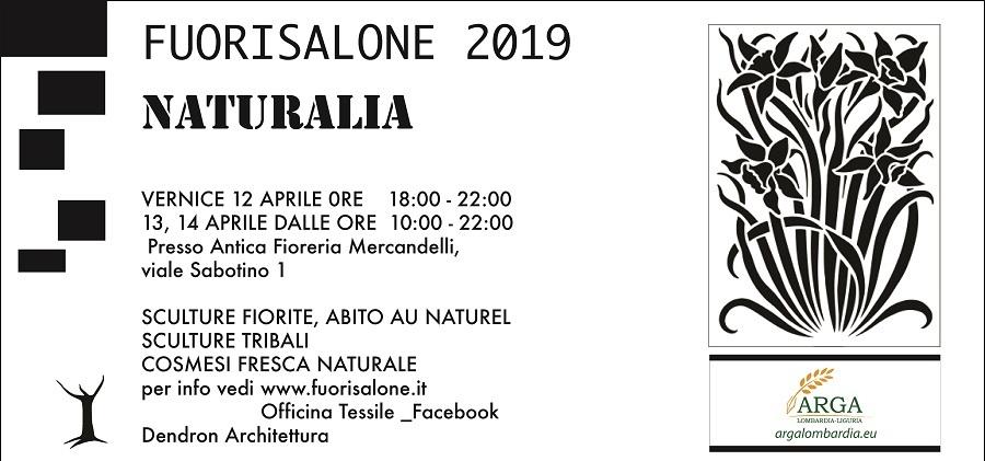 """Arga Lombardia Liguria partecipa al Fuorisalone 2019 con l'evento """"Naturalia"""""""